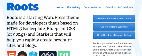 What files make up a wordpress theme simplywp roots is a starting wordpress theme made for developers thats based on html5 boilerplate blueprint css or 960 and starkers that will help you rapidly malvernweather Gallery