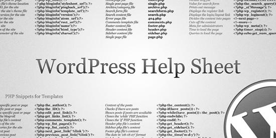 WordPress Cheatsheet Wallpaper