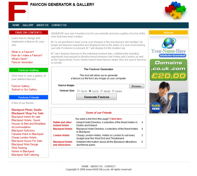 Favicon Generator | Designer WebTools