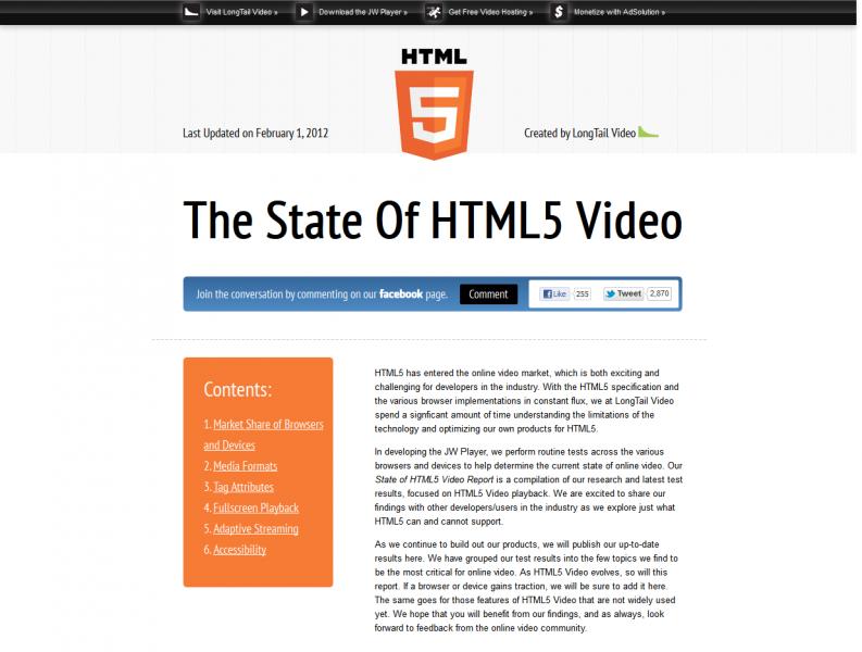 The State Of HTML5 Video   Designer WebTools