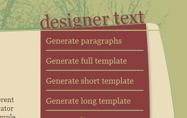 designer text